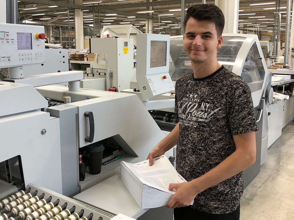 Ausbildung in Kölner Druckerei