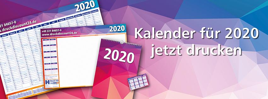 Kalender für 2020 jetzt drucken