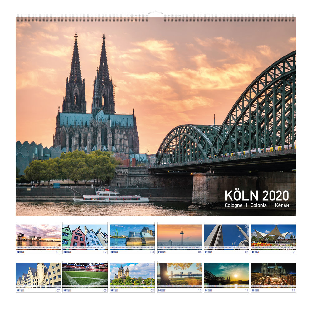 Wandkalender DIN A2 Druckerei Häuser Köln